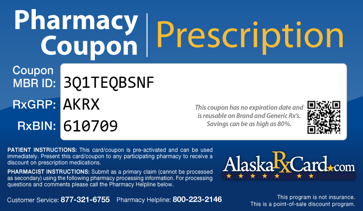Alaska Rx Card - Free Prescription Drug Coupon Card